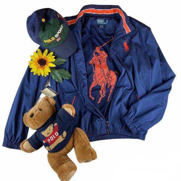 Polo Ralph Lauren Big Pony Logo Windbreaker Zip Up